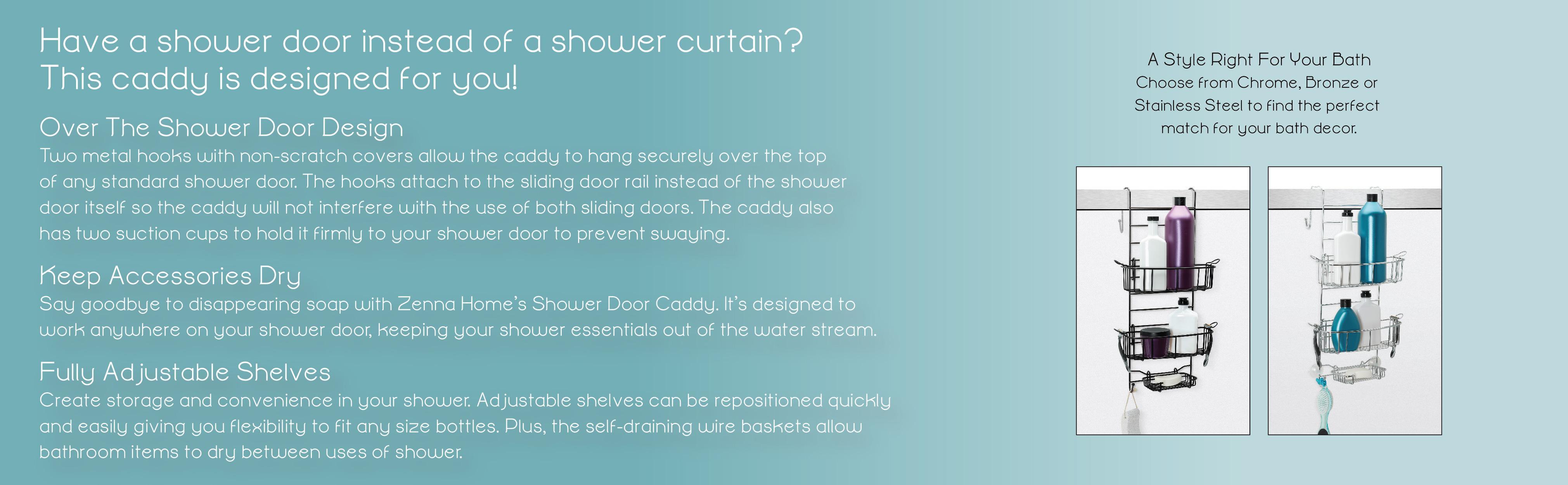 Modern Inter Over The Door Shower Caddy Inspiration - Bathtub Ideas ...