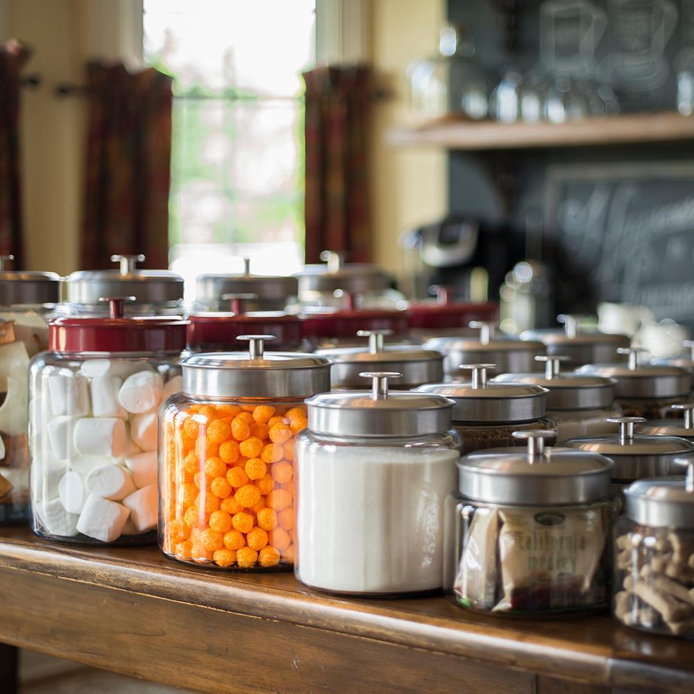 amazon com anchor hocking montana glass jar with airtight lid view larger