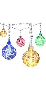 Oak Leaf Ball String Lights