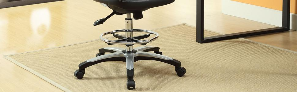 Amazon Com Modway Adjustable Edge Drafting Chair Mesh