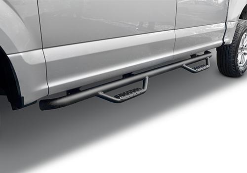 Double Cab Length, Pair Go Rhino D24043T Black Textured Dominator D2 Sidestep for Chevrolet//GMC