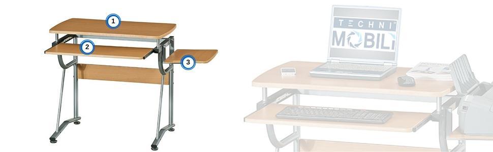Custom Compact Computer Desk Decoration Ideas