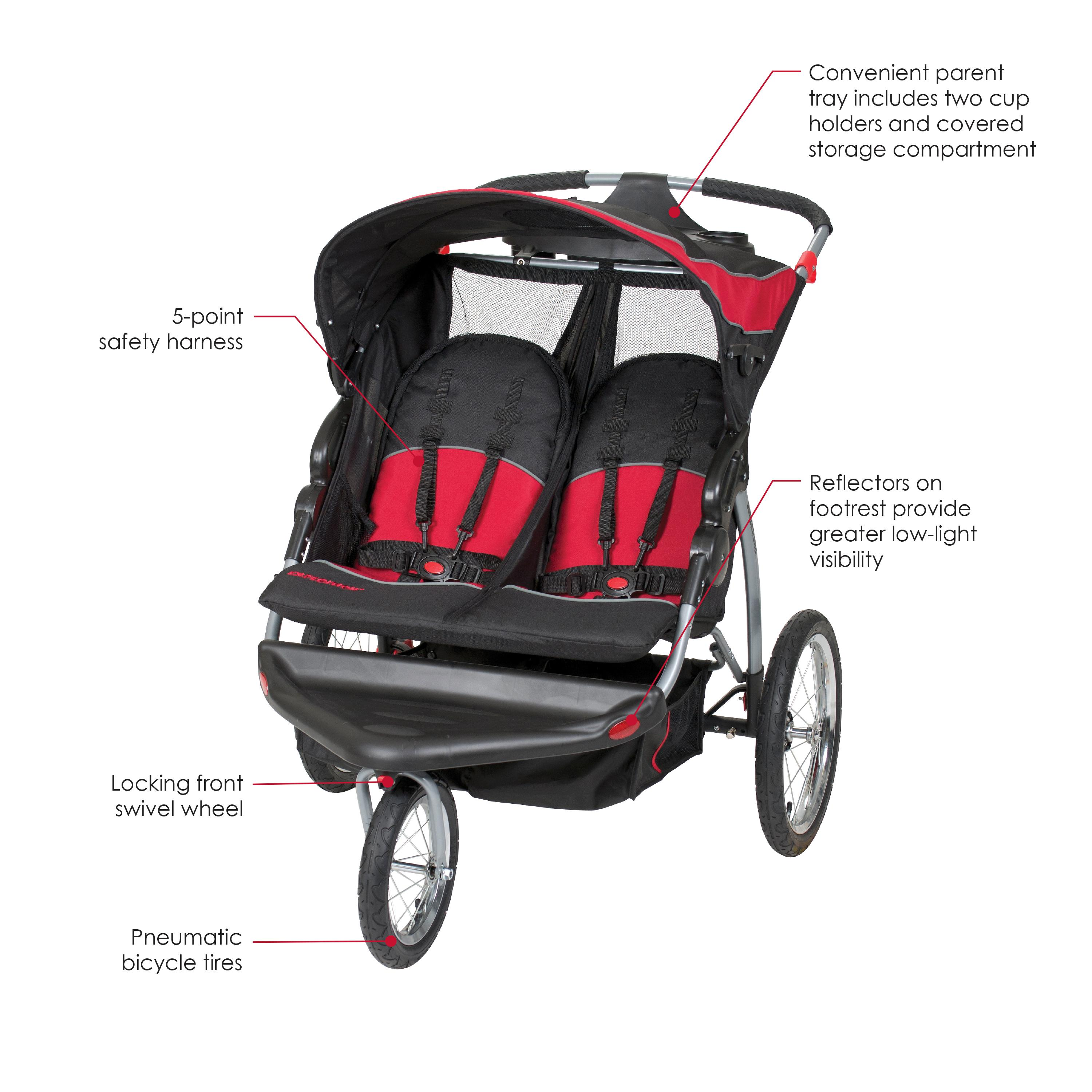Amazon.com : Baby Trend Expedition Double Jogger, Elixer : Jogging ...