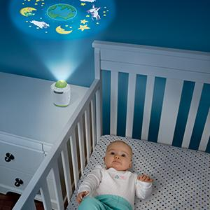MyBaby by HoMedics: MyBaby SoundSpa Lullaby Sound Machine and Image Projector with 6 sounds and Auto-off Timer 6