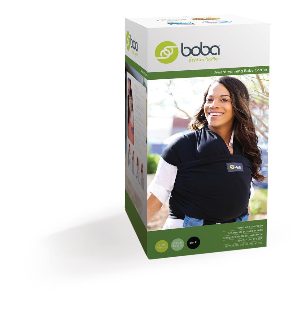 Boba Baby Wrap Black Baby Solo