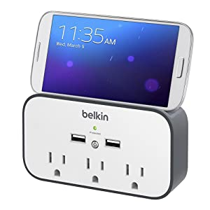 Amazon Com Belkin Bsv300ttcw 3 Outlet Wall Mount Cradle
