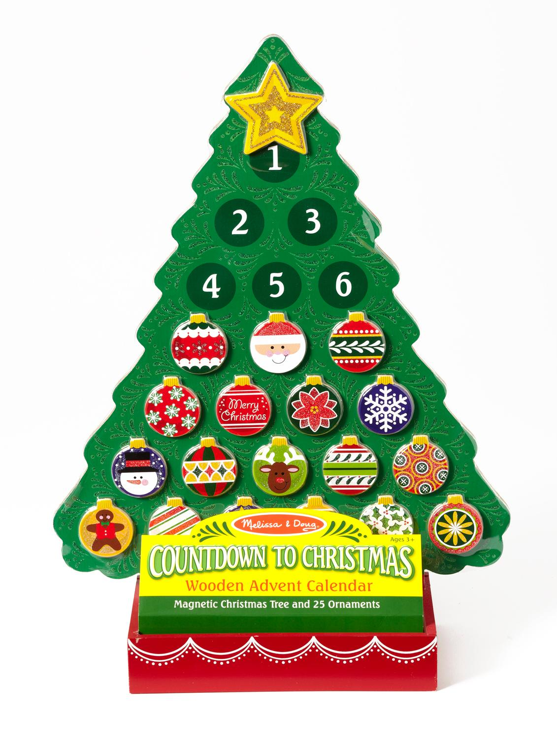 Christmas Calendar Pictures : Amazon melissa doug countdown to christmas wooden