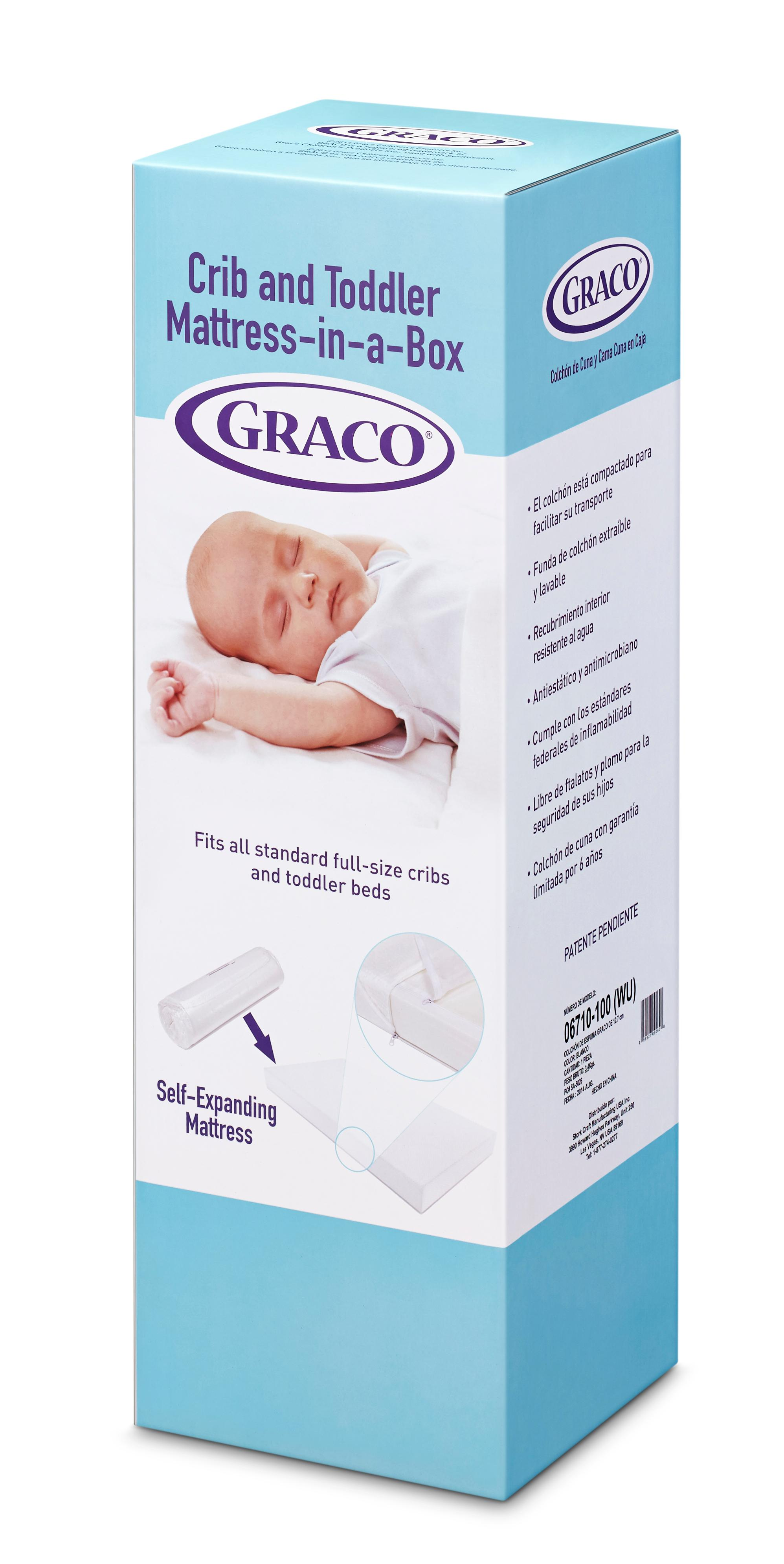 graco premium foam crib and toddler bed mattress standard and full sized baby. Black Bedroom Furniture Sets. Home Design Ideas