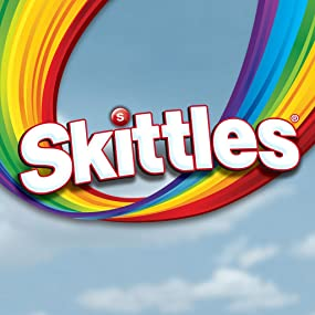 Skittles chewy bite sized candies. Taste the Rainbow, bursting with fruit flavors