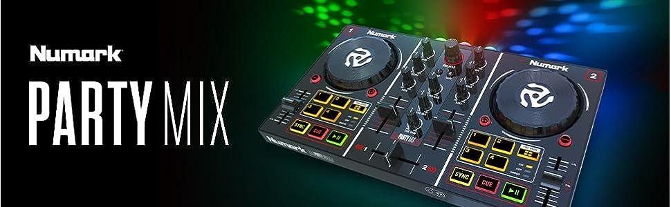 Numark PartyMix Party Mix DJ Controller w/ Built-in Light Show 0676762191715