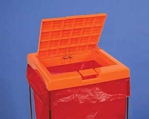 Biohazard bag holders, clavies biohazard bag holders, biohazard bag holder cover