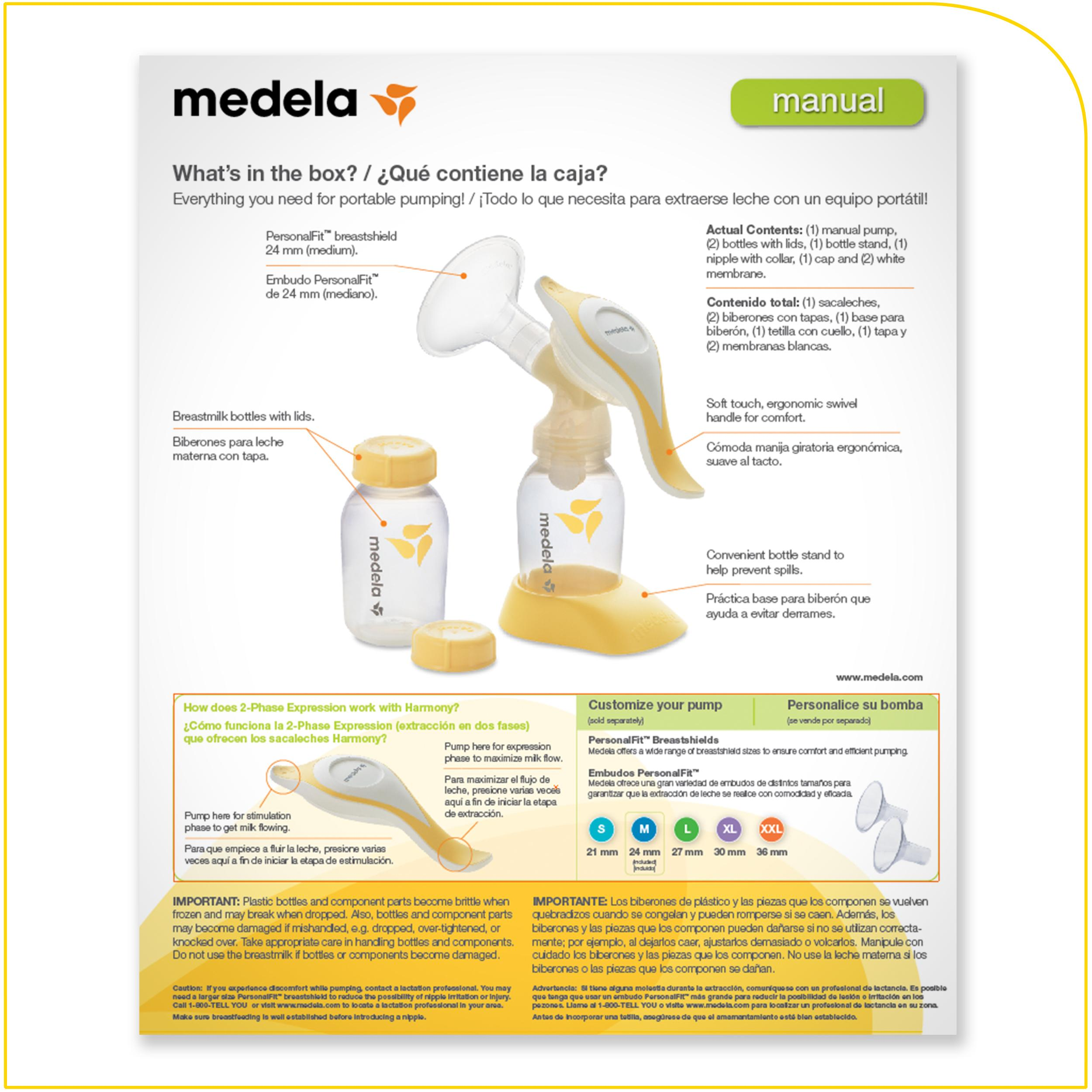 Amazoncom  Medela Harmony Manual Breast Pump  Manual -9084
