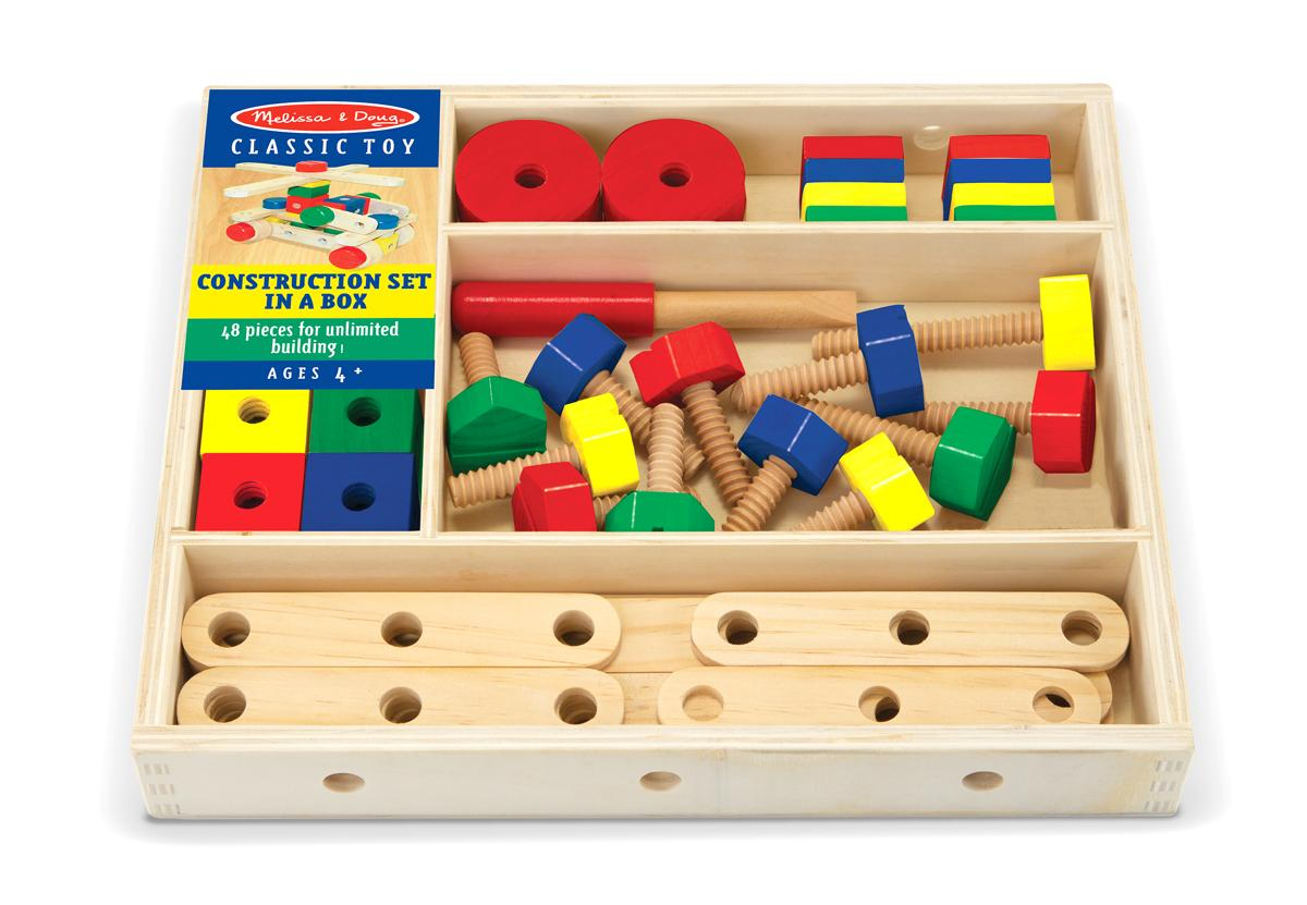 Amazon Com Melissa Amp Doug Wooden Construction Building