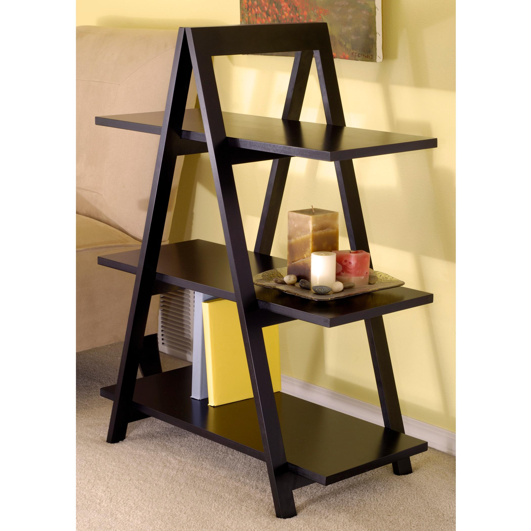 Marvelous photograph of aaron a frame shelf in black a unique shelving a frame shelf features  with #AD8A1E color and 2100x2100 pixels
