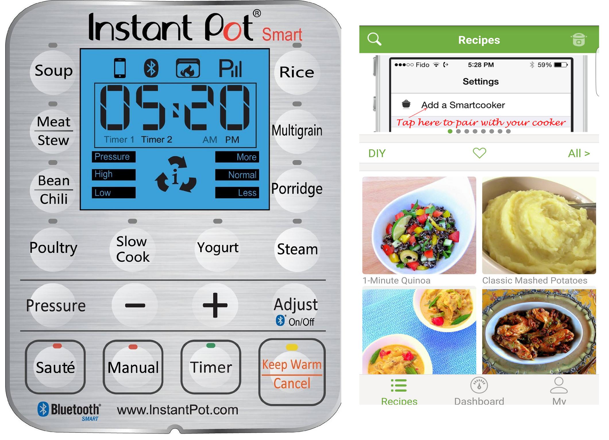 Amazon.com: Instant Pot IP-Smart Bluetooth-Enabled