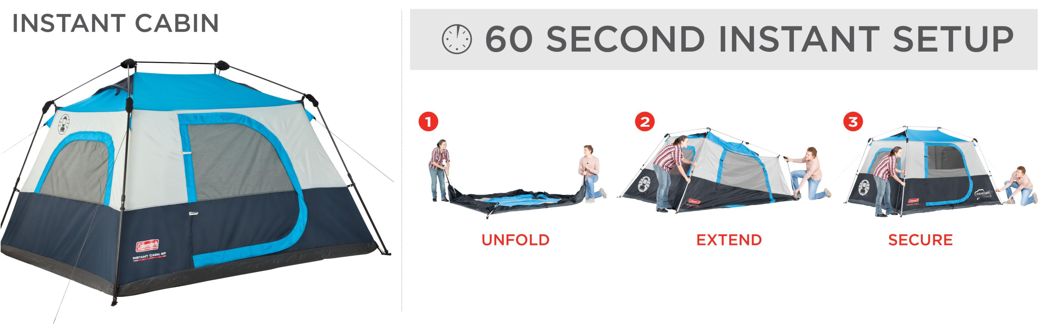 Read more  sc 1 st  Amazon.com & Amazon.com : Coleman 6-Person Instant Cabin : Family Tents ...