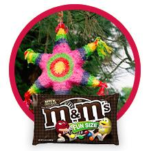 M&M'S Fun Size Pouches are the perfect piñata candy for birthday parties.