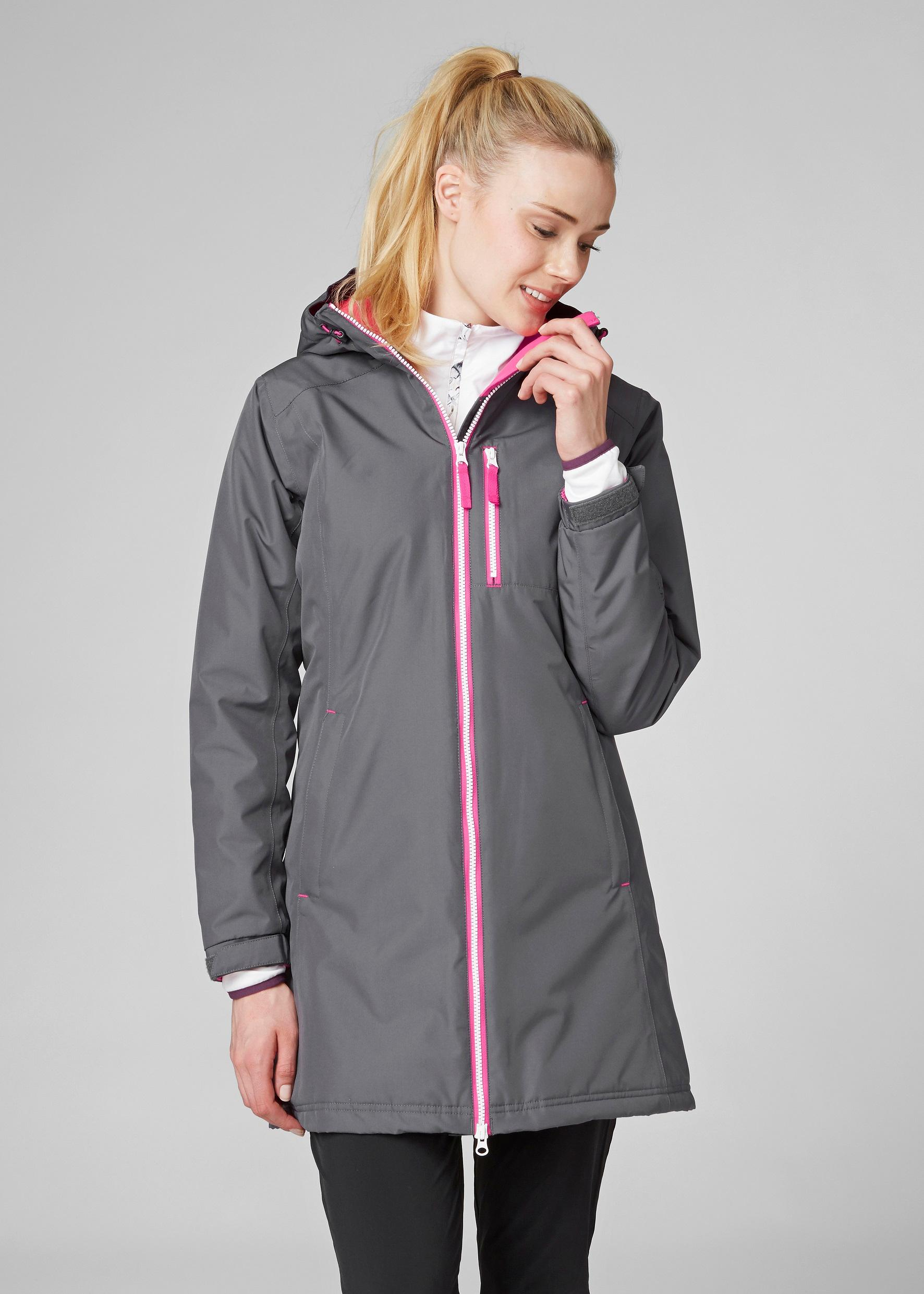 Amazon.com: Helly Hansen Women's Long Belfast Winter Rain Jacket ...