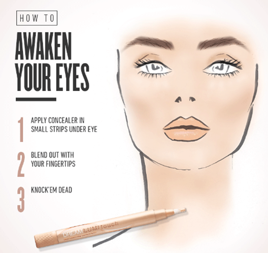 To apply concealer, he suggests gliding the brush in fluid continuous movements with light and gentle pressure over the undereye area. Apply concealer above foundation: If you are a concealer and foundation-under-the-eye type, then it's .