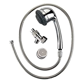 culligan hsh c135 hand held filtered shower head with massage chrome finish. Black Bedroom Furniture Sets. Home Design Ideas
