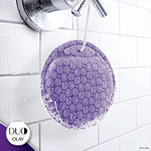 Olay DUO: Hang DUO to dry after each shower. Lasts up to 30 uses.
