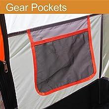 Tent Gear Pockets