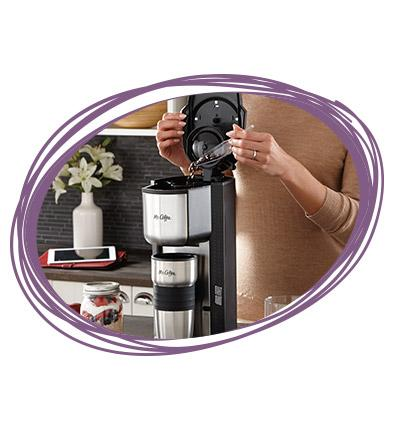 Mr Coffee Maker With Grinder Built In : Amazon.com: Mr. Coffee Single Cup Coffee Maker with Travel Mug and Built-In Grinder: Kitchen ...