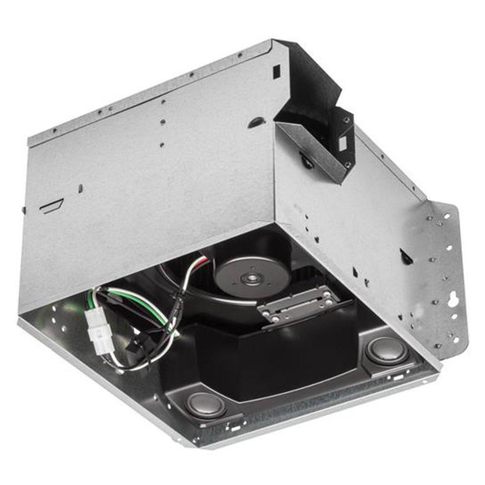 Broan Spk110 110 Cfm 10 Sones Sensonic Speaker Fan With Wireless Bath Wiring Angled View