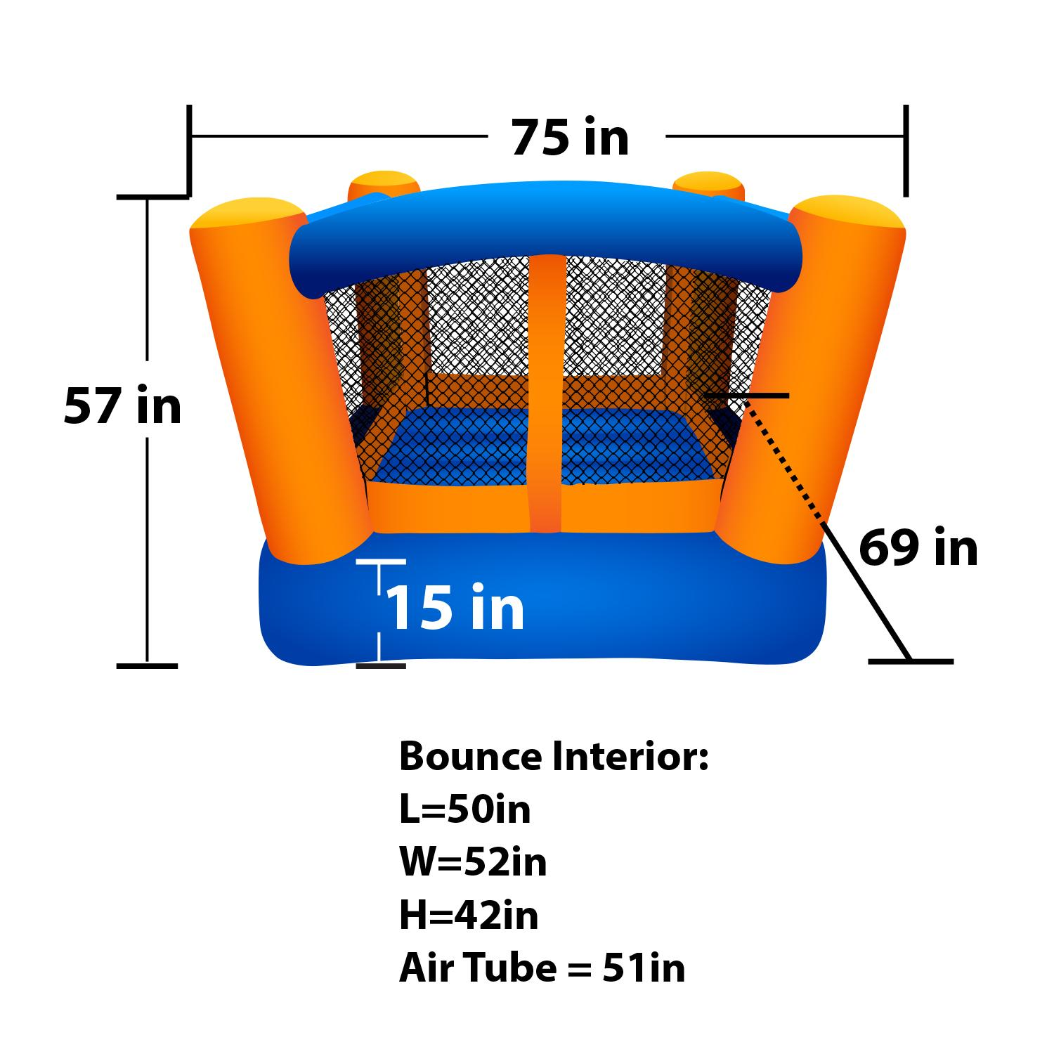 Amazon.com: Blast Zone Little Bopper Inflatable Bouncer: Toys & Games