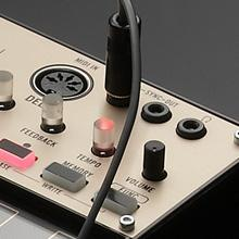 Korg Volca Keys SYNC jack and MIDI IN connector