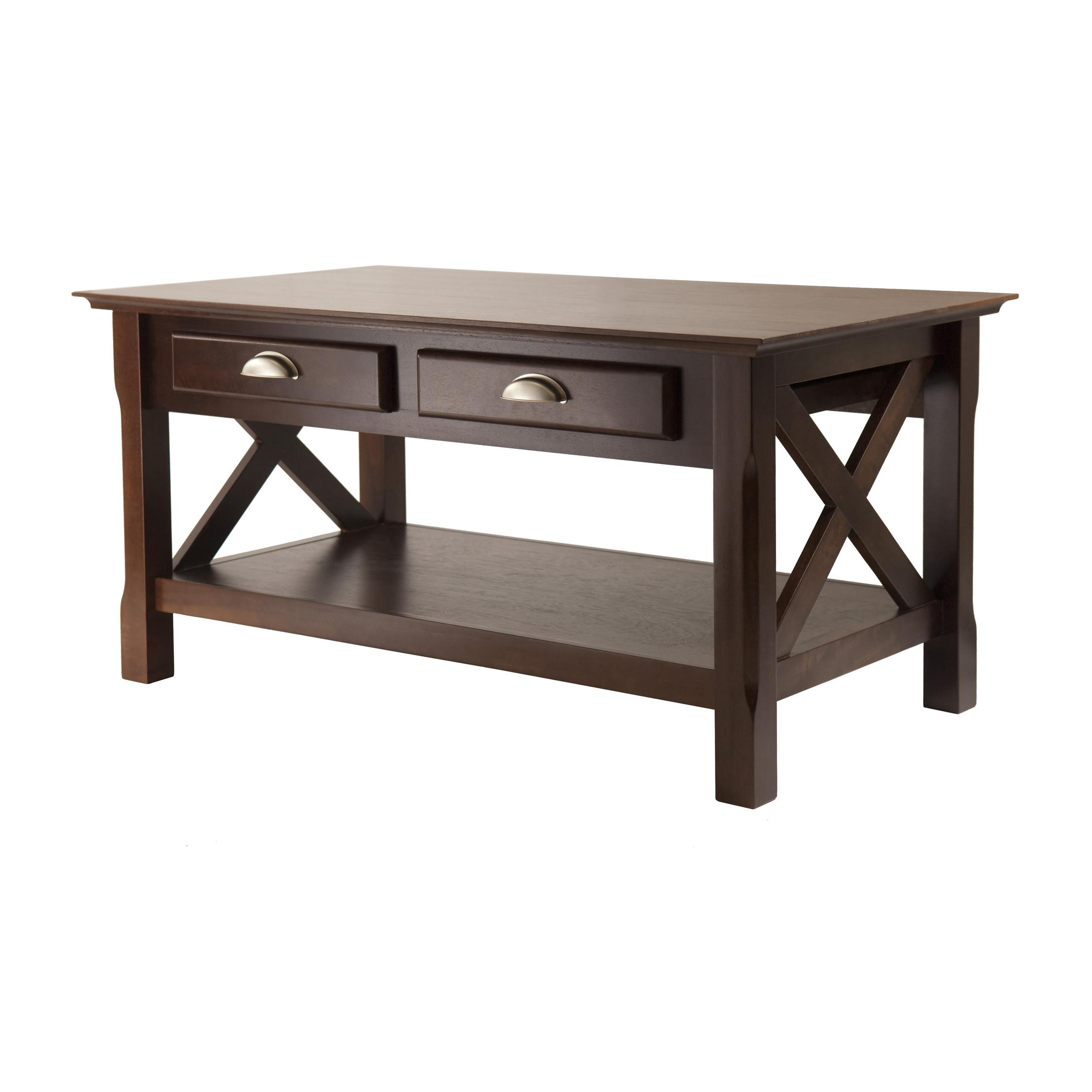Winsome Wood Xola Coffee Table Cappuccino