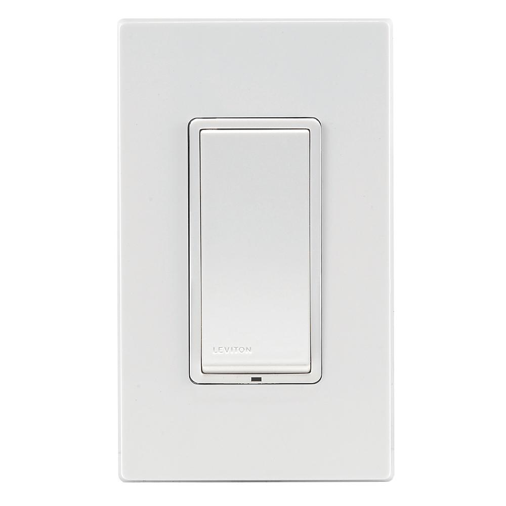 Leviton Decora 15 Amp 4way Rocker Switch Dzs15 1bz Z Wave Controls Scene Capable White Ivory Light Almond
