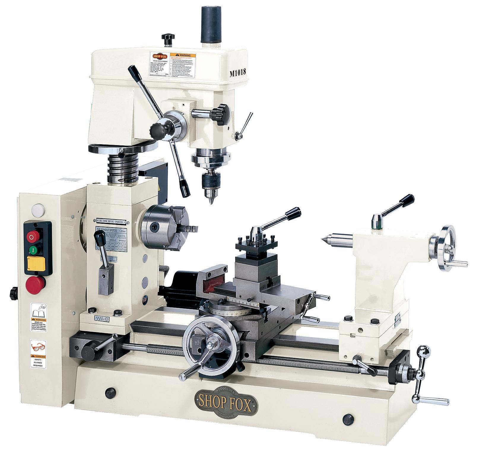 Used Milling Machines Power Tools Tools Home Amazon Com >> Shop Fox M1018 Combo Lathe Mill