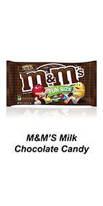 Single-serve pouches of milk chocolate M&M'S Candies are the ideal travel snack.