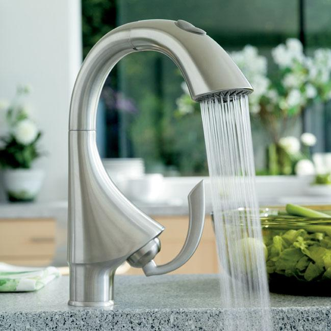 grohe k4 kitchen faucet k4 single handle pull out prep sink faucet with dual spray touch on kitchen sink faucets 8170