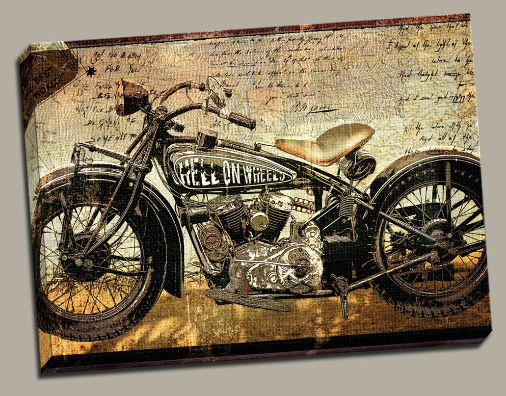 Motorcycle;cycle;paintingu0027canvas;art;decor;harley Davidson;chopper