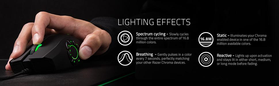Details about Razer Naga Hex V2 MOBA Gaming Mouse with Chroma Customizable  Lighting