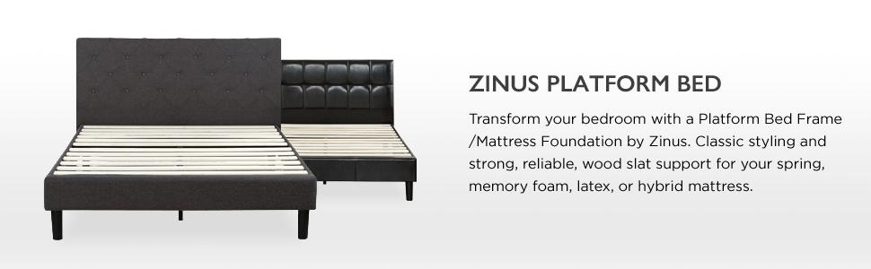 Signature Sleep 12 Inch Memory Foam Mattress King ... Stitched Platform Bed with Wooden Slat Support, King: Kitchen & Dining