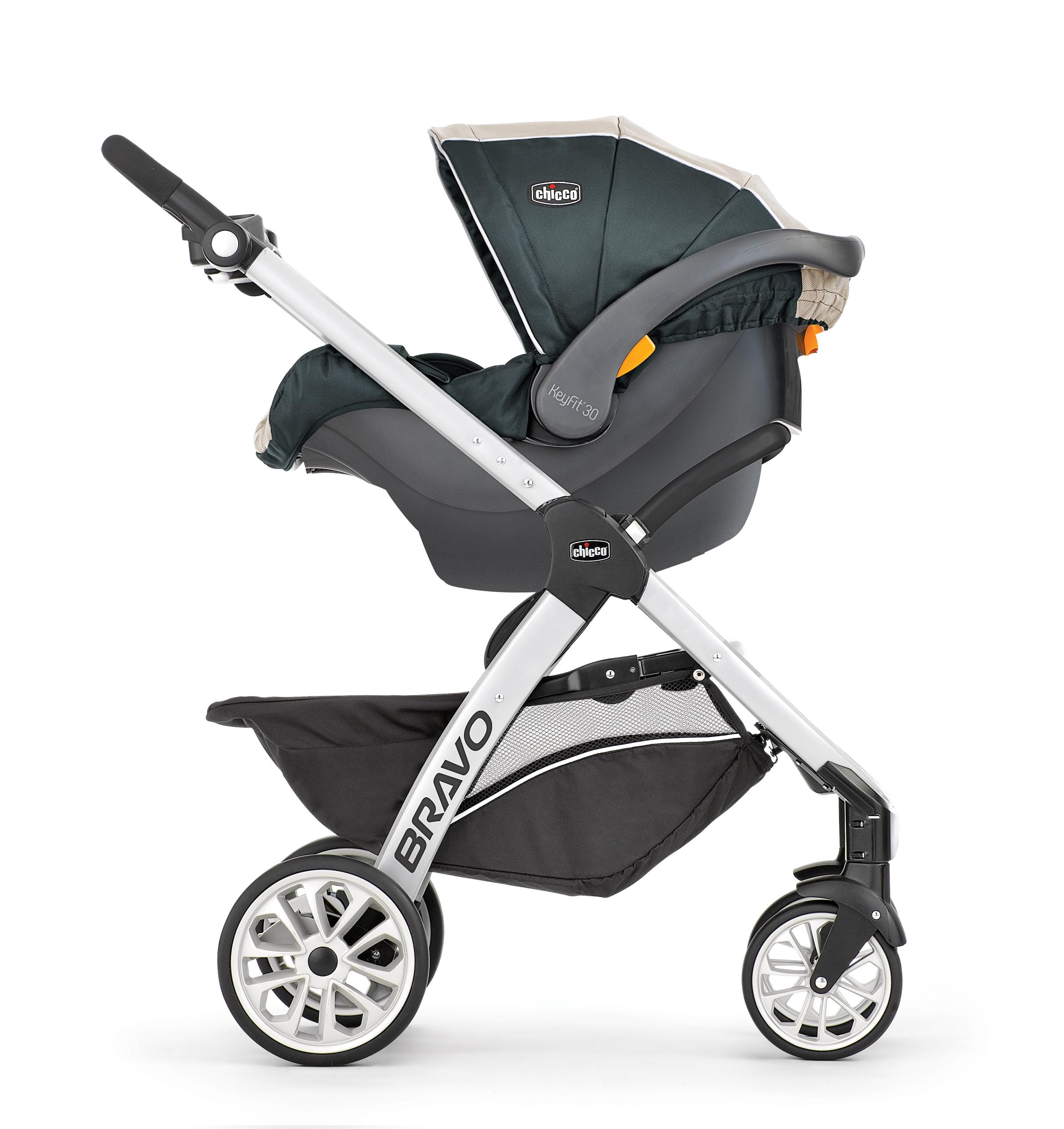 Amazon.com: Chicco Bravo Stroller & Chicco KeyFit - Asiento ...