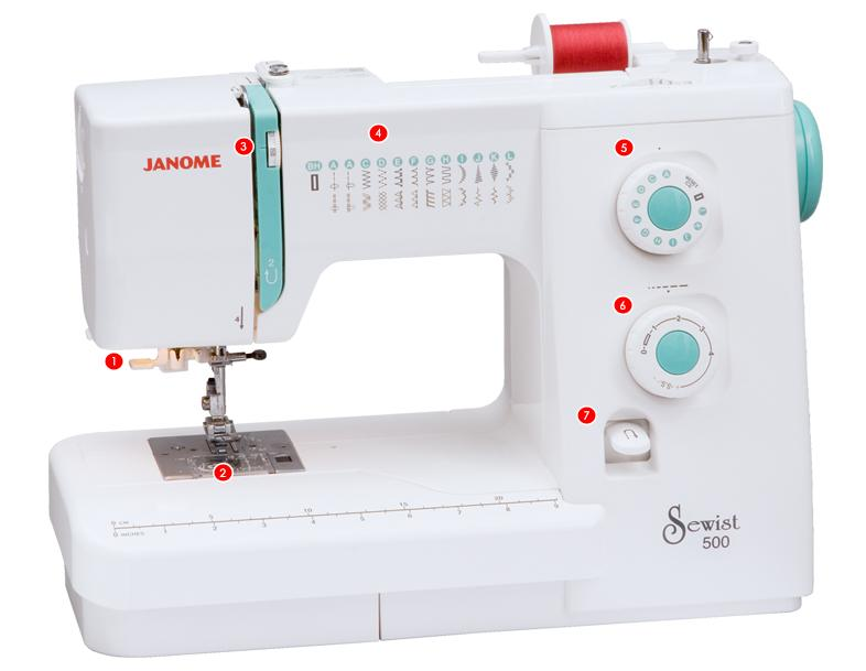 Amazon Janome Sewist 40 Sewing Machine With 40 BuiltIn Custom Sewing Machine Needle Brands