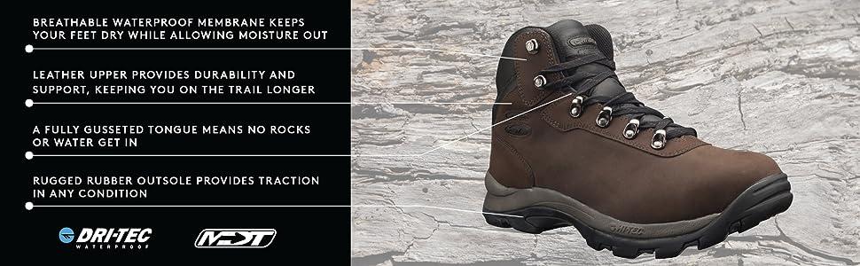 b25e053ba56 Hi-Tec Men's Altitude IV Waterproof Hiking Boot
