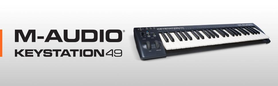 m audio keystation 49 ii 49 key usb midi keyboard controller with pitch bend. Black Bedroom Furniture Sets. Home Design Ideas