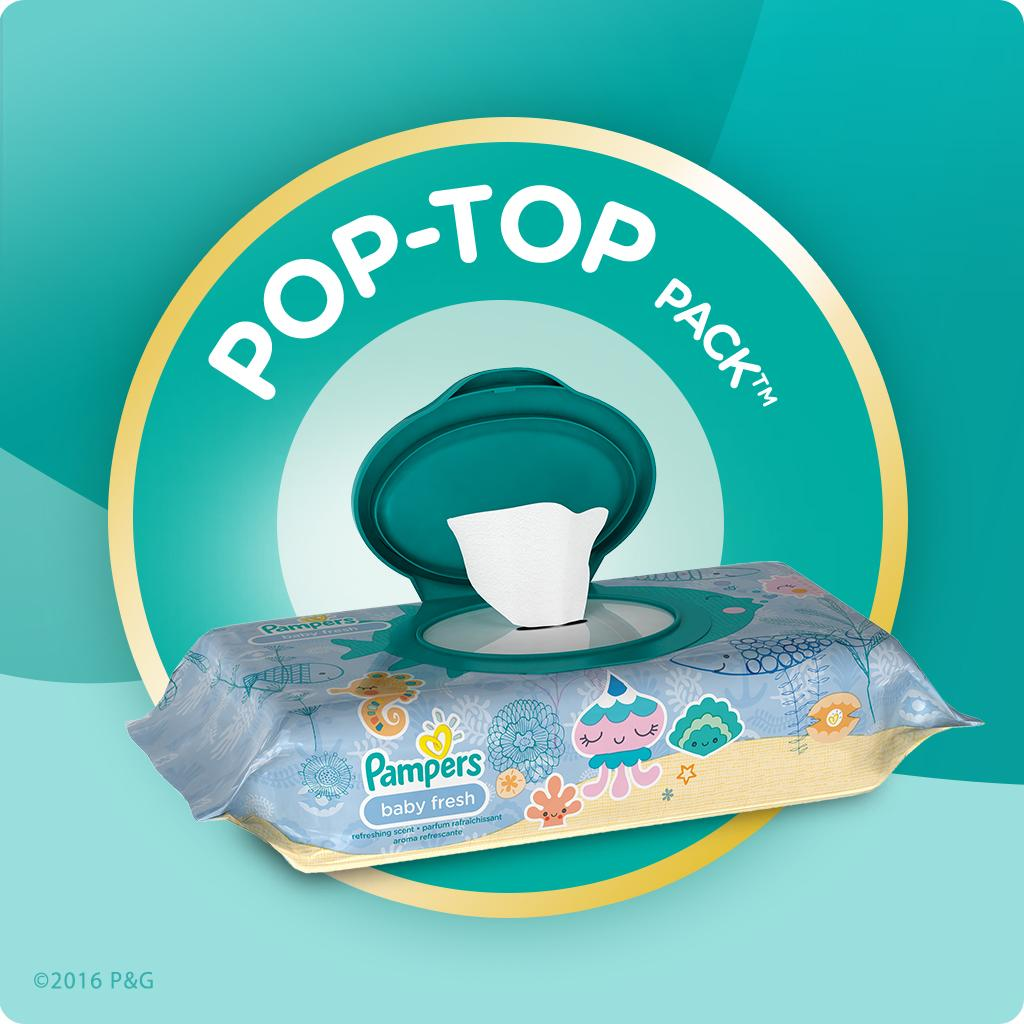 Amazon Com Pampers Baby Wipes Baby Fresh 3x Pop Top Packs