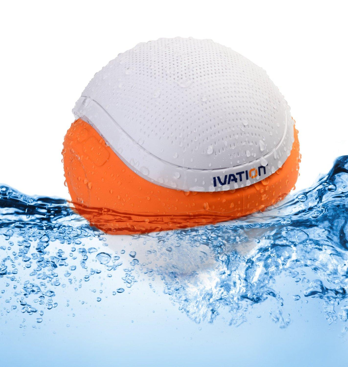 Amazon Ivation Waterproof Bluetooth Floating Speaker White
