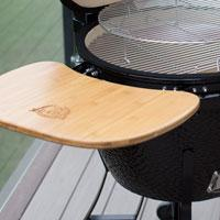 pit boss kamado bamboo side shelf folding