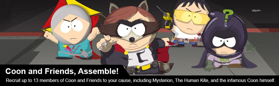 south park; coon and friends; Mysterion;