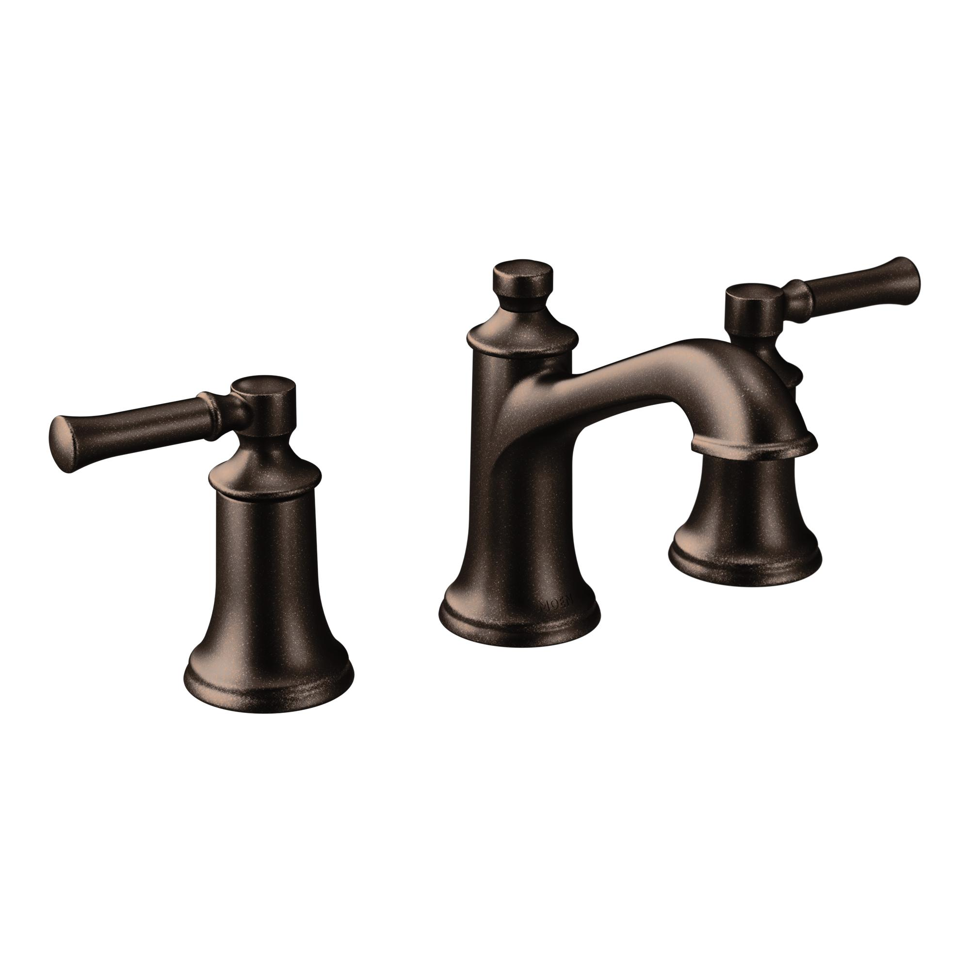 Moen t6805orb dartmoor two handle low arc bathroom faucet oil rubbed bronze Amazon bathroom faucets moen