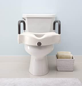 Amazon Com Medline Locking Elevated Toilet Seat With Arms