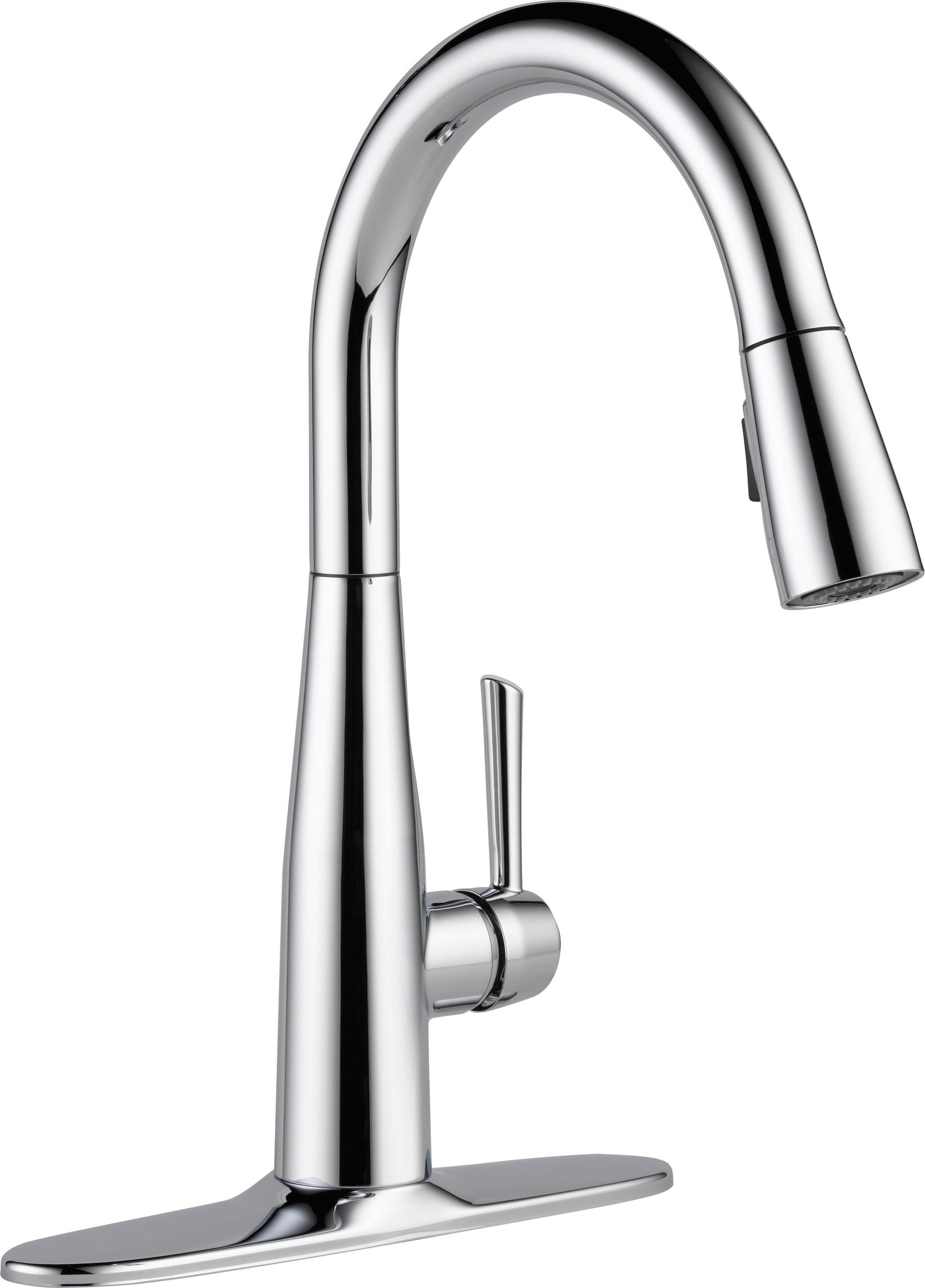 BS delta kitchen faucet Delta Essa Single Handle Pull Down Kitchen Faucet with MagnaTite Docking
