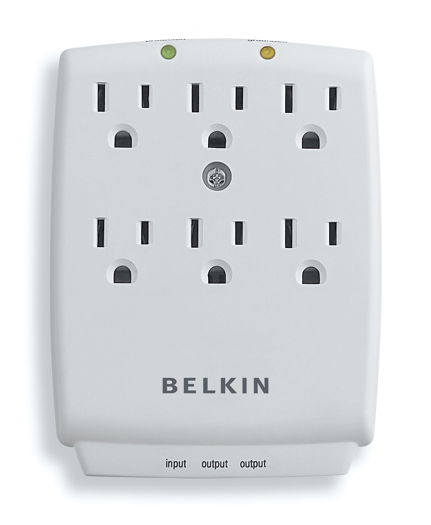 Amazon.com: Belkin 6-Outlet SurgeMaster Wall-Mount Surge Protector ...